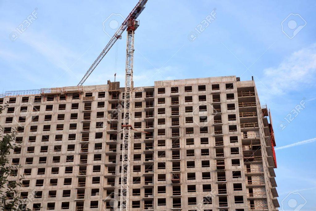 مراحل بناء عمارة سكنية
