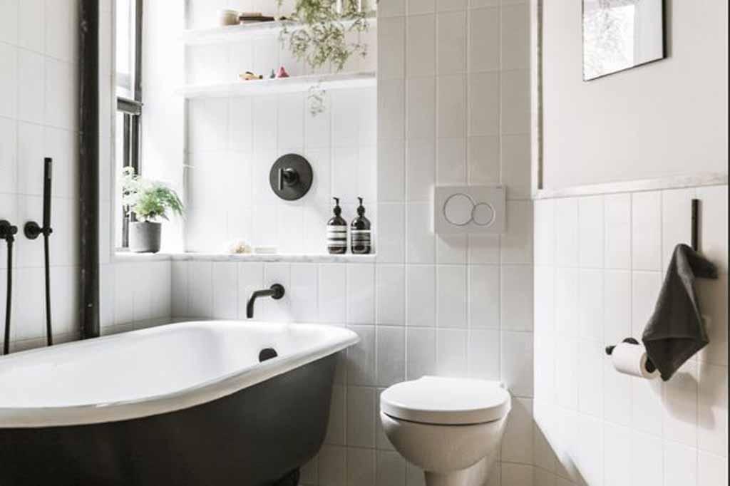 افكار ديكور حمامات صغيرة المساحة