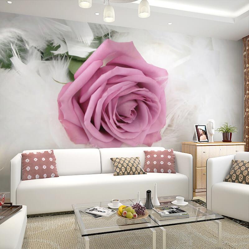 الورود و النباتات من أهم ديكورات حوائط الشقق 2020